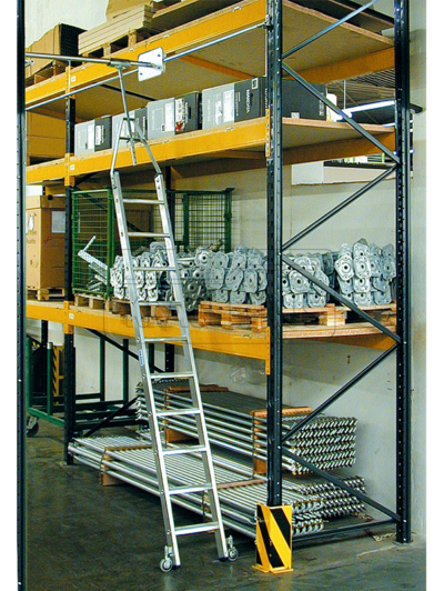 Стеллажная лестница Krause для двухрядных стеллажей