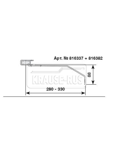 Регулируемый стенной анкер, 280–330 мм, оцинкованная сталь (1 шт.) Krause 816337