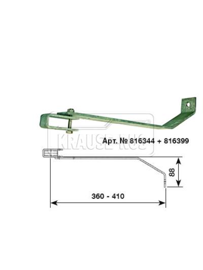 Регулируемый стенной анкер, 360–410 мм, оцинкованная сталь (1 шт.) Krause 816344