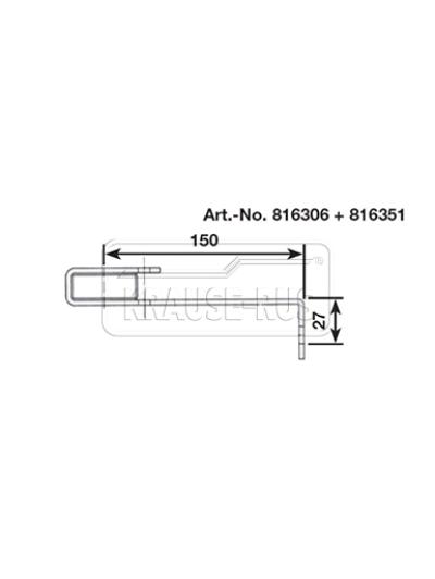 Стандартный стенной анкер,150 мм, V4A, (1 шт.) Krause 816351