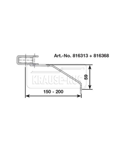 Регулируемый стенной анкер, 150–200 мм, V4A, (1 шт.) Krause 816368