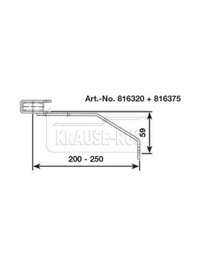 Регулируемый стенной анкер, 200–250 мм, V4A, (1 шт.) Krause 816375