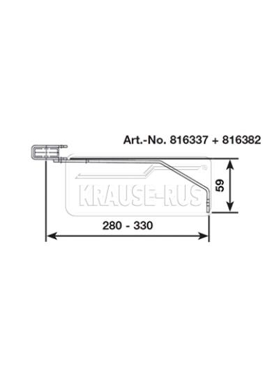 Регулируемый стенной анкер, 280–330 мм, V4A, (1 шт.) Krause 816382