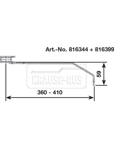 Регулируемый стенной анкер, 360–410 мм, V4A, (1 шт.) Krause 816399