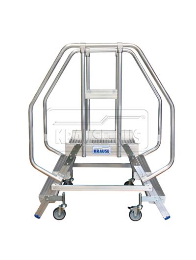 Лестница с платформой двухсторонняя Krause STABILO 2х3 820235