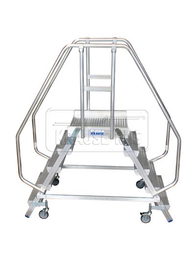Лестница с платформой двухсторонняя Krause STABILO 2х5 820259