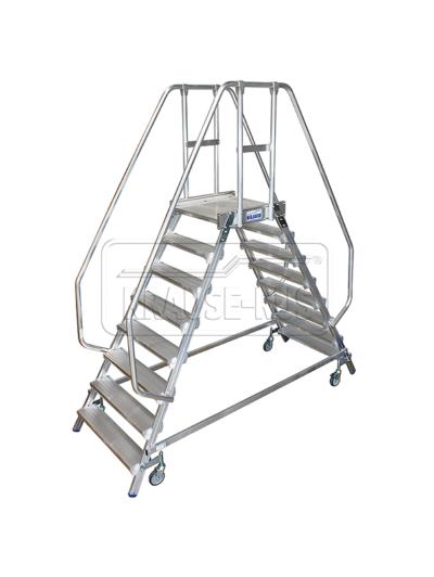 Лестница с платформой двухсторонняя Krause STABILO 2х8 820280
