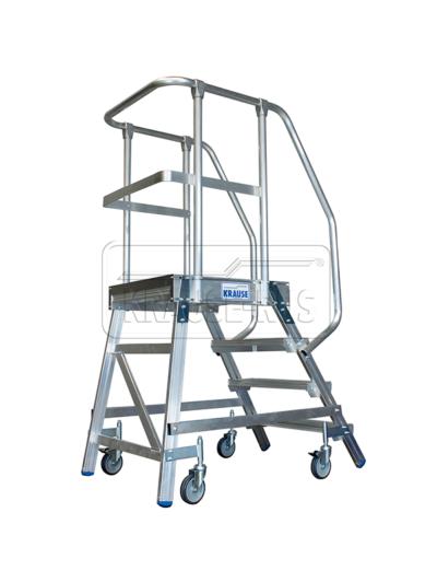 Лестница с платформой односторонняя Krause STABILO 4 ступени/820143