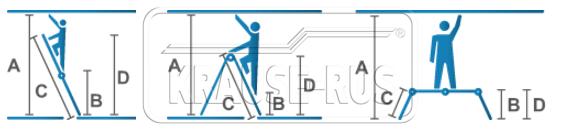 Шарнирная стремянка-трансформер Krause STABILO
