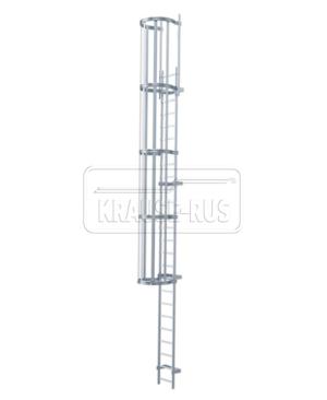 Настенная лестница Krause DIN 14094-1