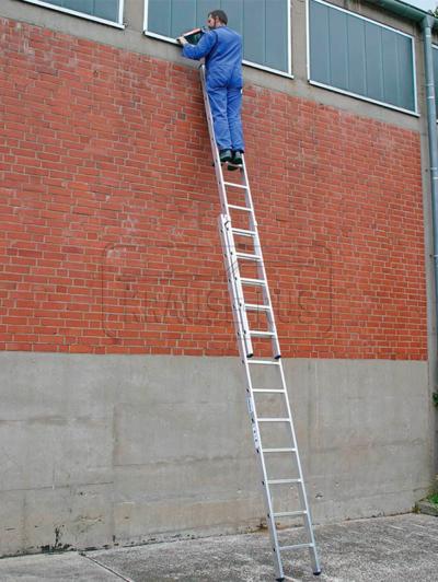 Лестница выдвижная двухсекционная Krause STABILO
