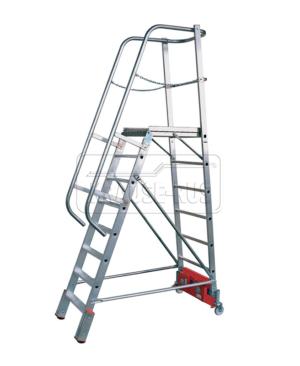 Передвижная лестница с платформой Krause
