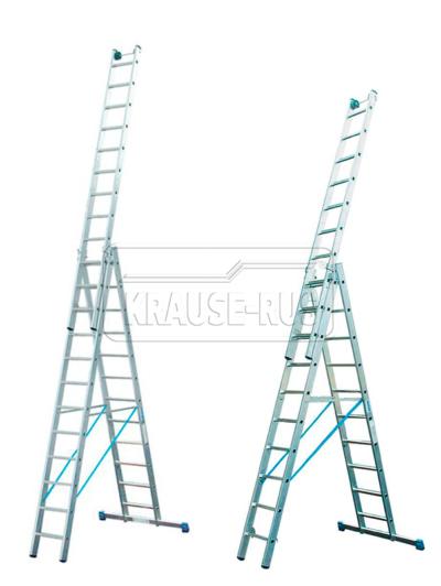 Трехсекционная лестница Krause STABILO