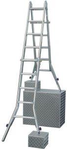 Шарнирно-телескопическая лестница Krause