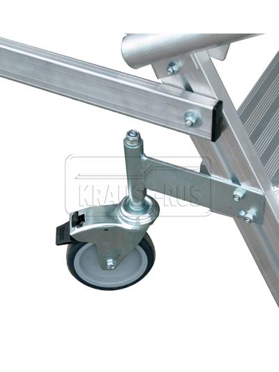 Роликовая опора Ø 125 мм с фиксатором для платформы Krause STABILO 820419