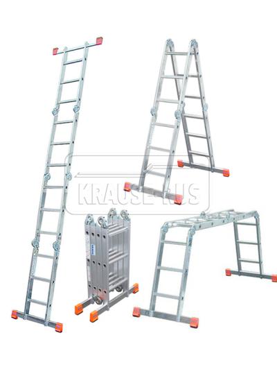 Шарнирная универсальная стремянка-трансформер MultiMatic Krause Monto