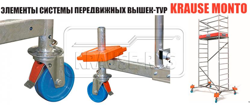 Комплект роликов Krause 125 мм 714169