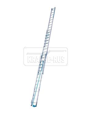 Трехсекционная выдвижная лестница с тросом Krause STABILO