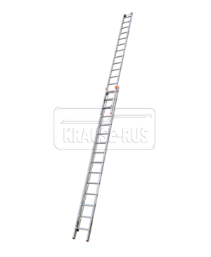 Двухсекционная выдвижная лестница с тросом Krause Monto Robilo