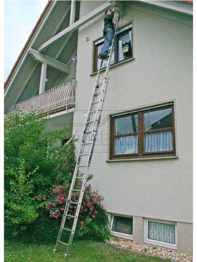 Двухсекционная выдвижная лестница с тросом Robilo Krause