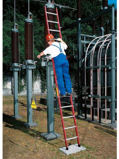 Диэлектрическая приставная лестница Krause