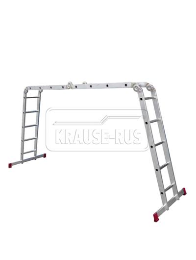 Шарнирная универсальная стремянка-трансформер Krause Corda 085078