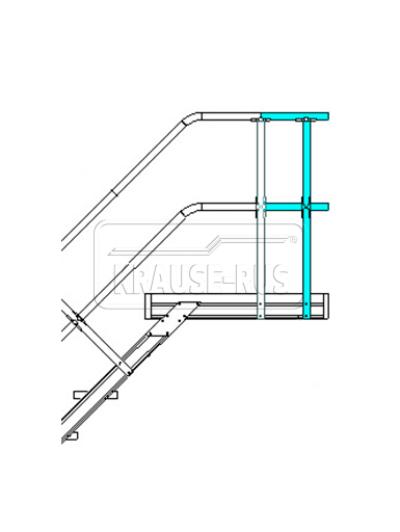 Удлинение перил для трапа с платформой Krause STABILO