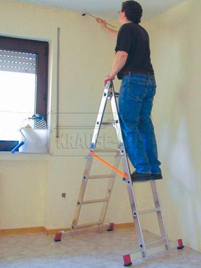 Лестничные подмости Krause Corda с роликами