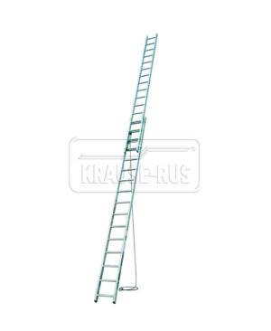 Двухсекционная вытягиваемая тросом лестница Krause Corda