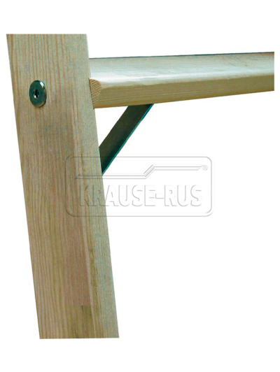 Деревянная двусторонняя стремянка со ступенями Krause