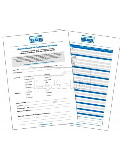 Контрольные листы с контрольной папкой Krause 817020