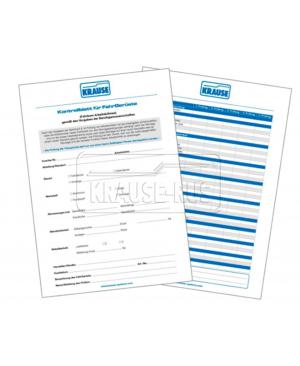 Контрольные листы с контрольной папкой Krause 212726