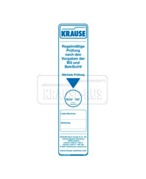 Контрольная наклейка для подставок и лестниц Krause 817006
