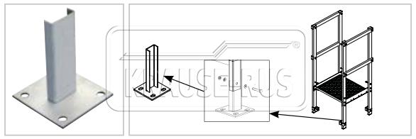 Опорная пластина для крепления пожарной лестницы Krause 835123