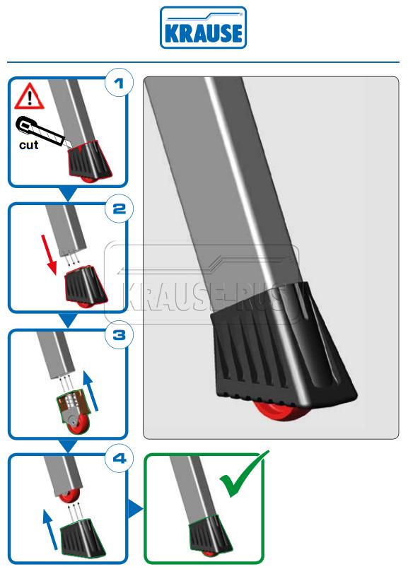 Инструкция по замене опоры с роликом для Krause Rolly