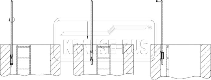 Приемная гильза для шахтной лестницы Krause
