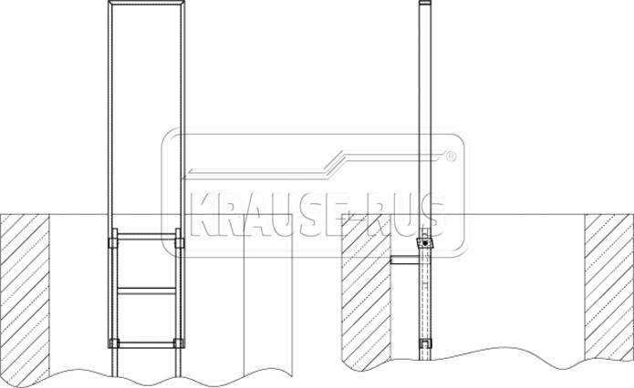 Рама-поручень для шахтной лестницы Krause
