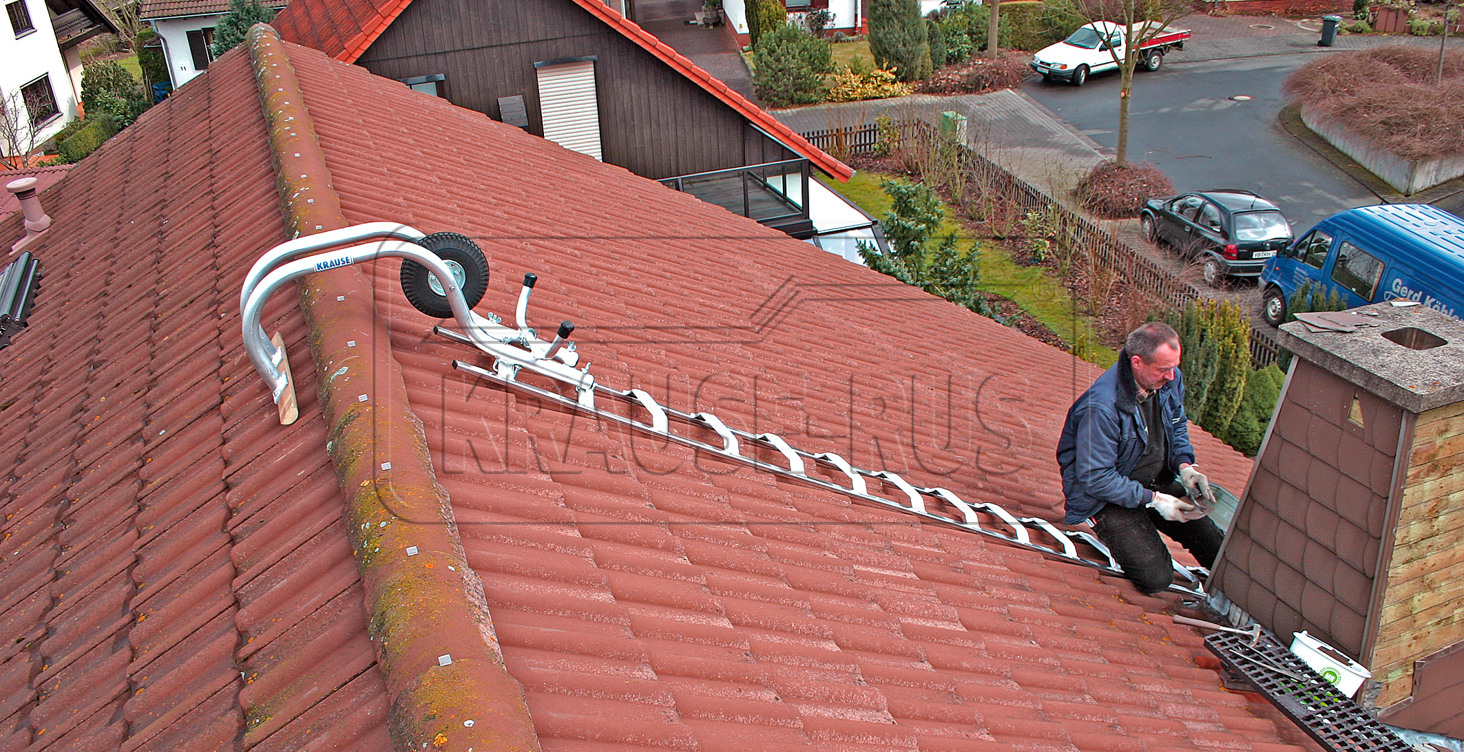 Лестница для работы на крыше своими руками